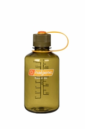 NALGENE 500ML / 16 OZ. NARROW MOUTH BPA FREE WATER BOTTLE - OLIVE